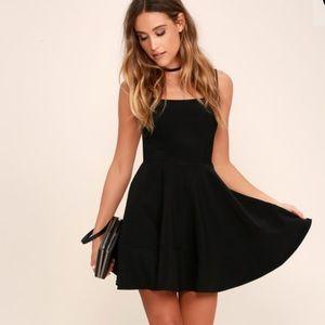 Lulus Black Dress w/ Square Neckline